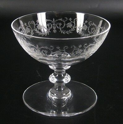 Baccarat Trinkglas Serie Camilla France Crytal Drinking Glass Etched 8cm