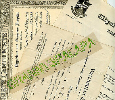 Several Genealogy Docs, Clippings, Certificate / ATWATER Family-New York / Cali