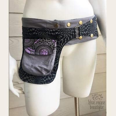 Patchwork Cotton Snap Wrap Festival Pocket Travel Hippie Pixie Money Belt 01