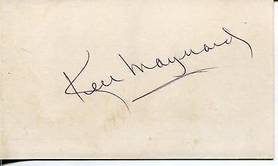 Ken Maynard Silent Movie Western Actor In The Wagon Master Signed Card Autograph