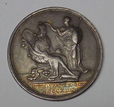 Great Britain. George I 1714 Coronation medal in silver, VF.