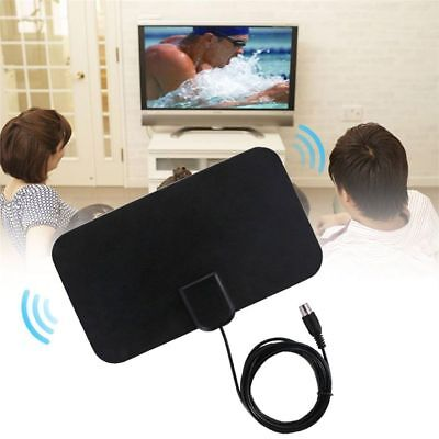 TV Antenna HDTV Flat HD Digital Indoor Amplified 50-Mile Range TVFox VHF UHF DVB