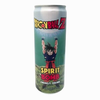 Dragon Ball Z Spirit Bomb Energy Drink 12 ounce Can NEW SEALED UNOPENED
