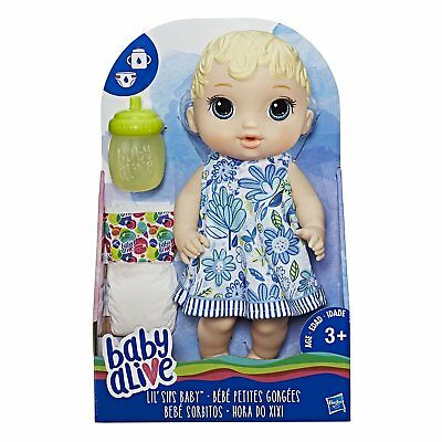 New Hasbro Baby Alive Lil' Sips Baby Blonde Hair E0385