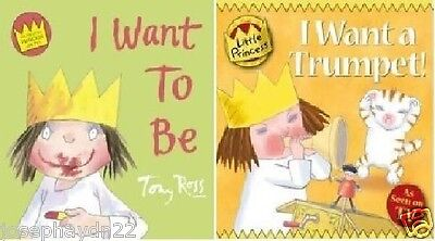 NEW SET of 2 x the LITTLE PRINCESS -  I WANT A TRUMPET / I WANT TO BE