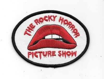 The Rocky Horror Picture Show Name & Lips Logo Embroidered Patch White Version