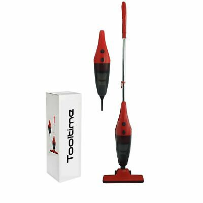 Red 600W Bagless Cyclonic Stick Upright Handheld Vacuum Cleaner Hepa Filter