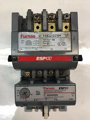 Furnas Solid State Overload Relay With Esp100 *Free Shipping*