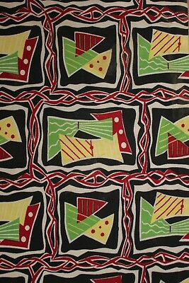 Vintage Mid Century Modern Design Fabric Material 1950s French