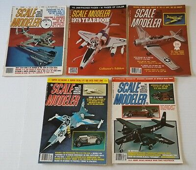 1977 1978 1979 1980 Scale Modeler Magazine 5 Issues VGC