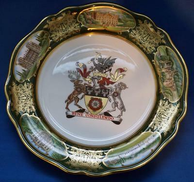 Spode  The Derbyshire County Cabinet Plate Coat of Arms Limited Edition