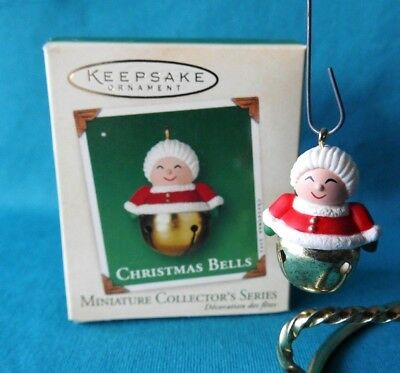 Hallmark  Miniature Ornament  2002 Christmas Bells Mrs. Claus #8 in the Series