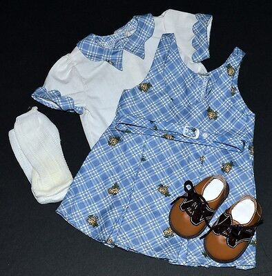 Kit School Outfit! American Girl Doll~Retired! Complete With Htf Comb! 2000