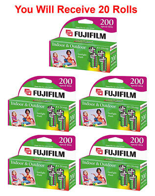 20 Rolls Fuji 200 35mm Film 4pk CA 135-24 Exp Fuji Camera Wholesale 04/2019