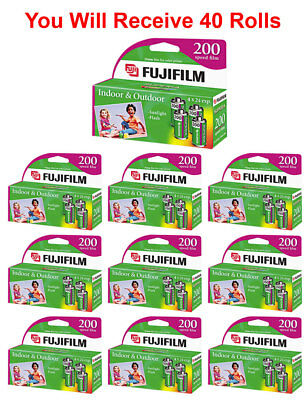 40 Rolls Fuji 200 35mm Film 4pk CA 135-24 Exp Fuji Camera Wholesale 04/2019