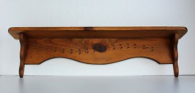 """36"""" W Antique East Lake Spoon Carved Type Wood Plate Shelf Figurine Pictures"""
