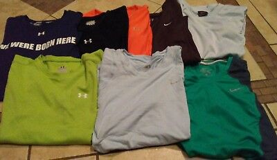 Nike Dri Fit Under Armour Lot Of 8 Shirts Size. Medium Women's