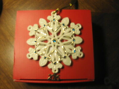 Lenox 2016 Annual Gemmed Snowflake Christmas Tree Ornament NEW in Box WOW