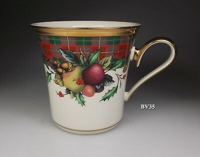 "LENOX HOLIDAY TARTAN ACCENT MUG 3 1/2"" x 3 5/8""  MUGS -  MINT!"