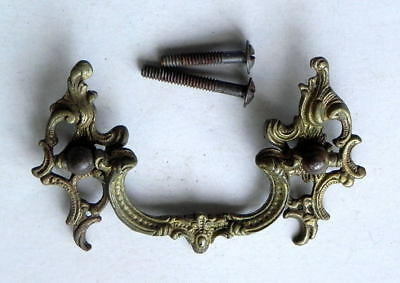 Antique Vintage Hardware 1 Single Brass Bale Drawer Pull Victorian Art Nouveau