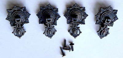 ANTIQUE VINTAGE HARDWARE 4 VICTORIAN PENDANT DRAWER PULLS KEELER BRASS Co