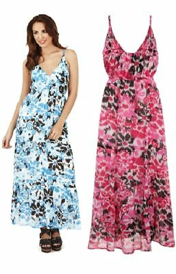 Ladies Pistachio Cotton Strappy Maxi Summer Dress D633 Aztec Print