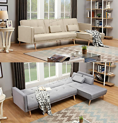 Westwood Luxury L Shape Fabric Sofa Bed Corner Couch 3 4 Seater Fsb05 Home