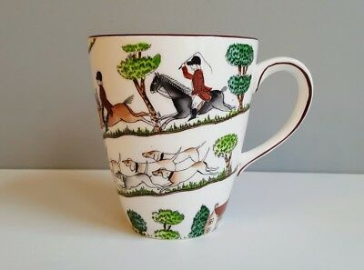 MUG, LARGE, 12 Ounce Capacity CROWN STAFFORDSHIRE HUNTING SCENE (14 AVAILABLE)