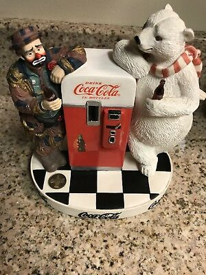 """Emmett Kelly 1995 Coca Cola """"cool Off With Coke"""" Figurine"""