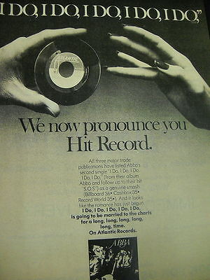 ABBA preserved 1976 Rare Promo Ad ....PRONOUNCED HIT