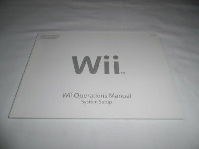 nintendo wii console operations manual channel and settings & system