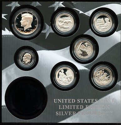 2017-S United States Mint Limited Edition Silver Proof Set W/O $1 Coin BN689