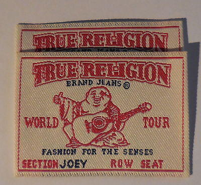True Religion Brand Jeans Patches Sew On Tag Label Set of 2