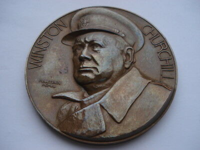 10Th Nov 1942 Winston Churchill Large Bronze The Fight For French Freedom Medal