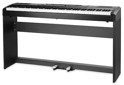 Digital Stage Piano 88 Tasten Hammermechanik E-Piano Keyboard Ständer Stativ Set