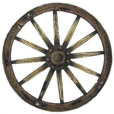 Brown Wagon Wheel Country Accent Farmouse Rustic Home Decor