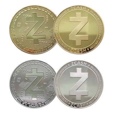 ZCASH Gold Silver Commemorative Collectors Coin Souvenir Challenge Coin Gift 4mm