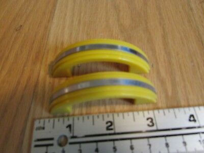 Vintage Deco Yellow Plastic Cupboard, Drawer Handles, Pulls, NOS Unused