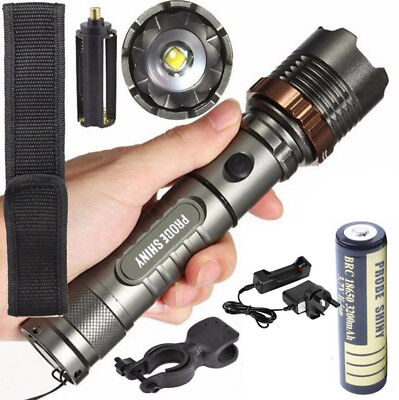 5000LM XM-L T6 LED Tactical Flashlight Zoom Portable Torch Lamp+Battery+Charger