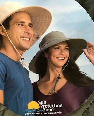 New Sun Protection Zone Unisex Booney Hat Lightweight Adjustable Spf VARIETY d32d05ef40ae