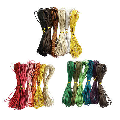 6pcs 6 Colors 10 Meters Waxed Cotton Cord String for Jewelry Making 1.5mm