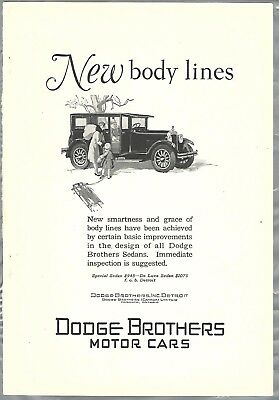 1927 Dodge Brothers advertisement, DODGE Sedan, New body lines