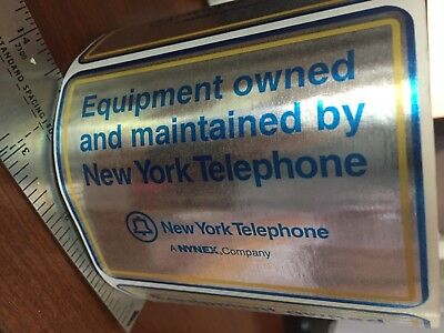 Vintage roll 20 NY New York Telephone NYNEX telephone equipment stickers decals