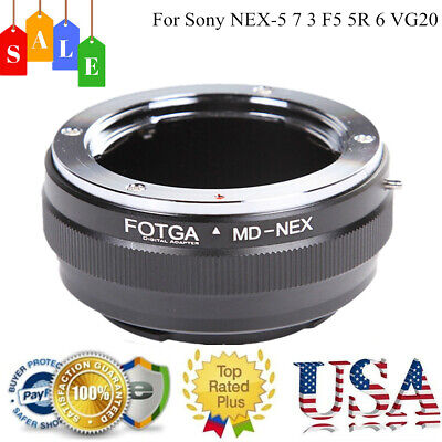 MD-NEX Adapter Ring For Minolta MC/MD Lens To Sony NEX-5 7 6 F5 5R VG20 E-Mount
