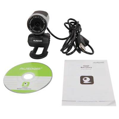 AUSDOM 1920x1080P Skype Full HD USB2.0 Webcam PC Video Network Camera with Mic