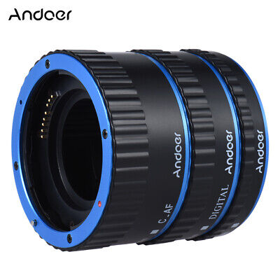TTL Auto Focus AF Macro Extension Adapter Tube Ring for Canon EOS EF-S 60D Y3X6
