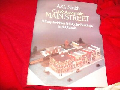 Cut & Assemble Main Street 9 Easty-to-Make Full-Color H-O Scale A.G. Smith