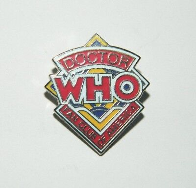 Doctor Who Original Logo Fan Club Cloisonne Metal Pin (c) 1982 NEW UNUSED