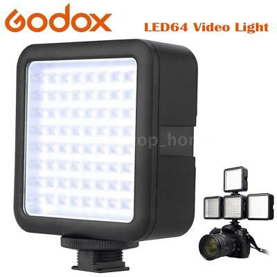 Godox 64 LED Video Fill Light Lamp Panel for DSLR Camera News Interview Lighting