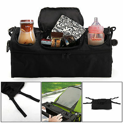 Baby Changing Pram Stroller Buggy Storage Pushchair Bag Bottle Cup Organizer UK